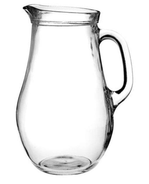 Reklamní džbán Bera 1000, džbán na vodu, reklamní sklo, džbán s potiskem, džbán s logem, pískování do skla, barevné sklo