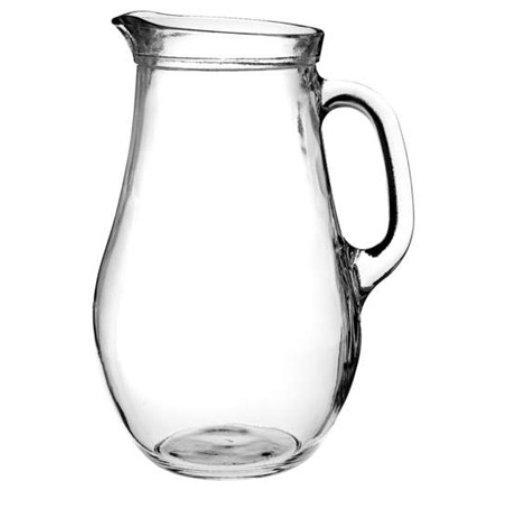 Reklamní džbán Bera 500, džbán na vodu, reklamní sklo, džbán s potiskem, džbán s logem, pískování do skla, barevné sklo