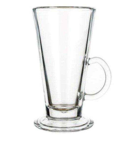 Reklamní sklenice Cola 260, sklenice na Latte, reklamní sklenice, reklamní sklo, sklenice s potiskem, sklenice s logem, pískování do skla, barevné sklenice, barevné sklo